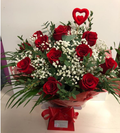 12 red roses €69 including free Dublin delivery